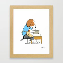 Beagle Ceramicist (Dogs with Jobs series) Framed Art Print