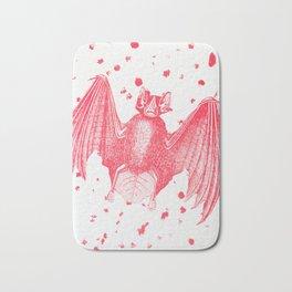 Pink Bats Paint Pattern Bath Mat