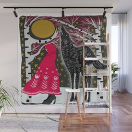 Red Riding Hood Fairy Tale Folk Art Wall Mural