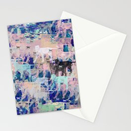 Instinctive Kittens Abstract Stationery Cards