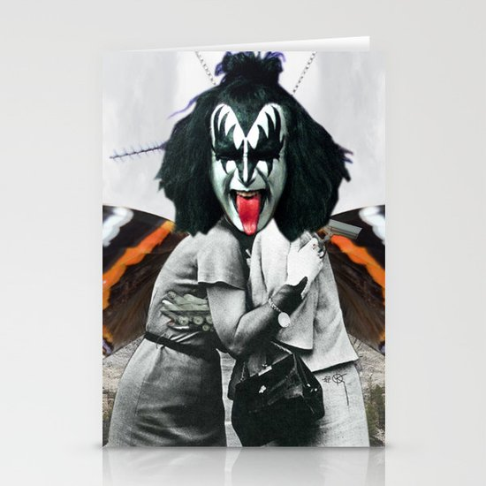 The last Kiss Collage Stationery Cards