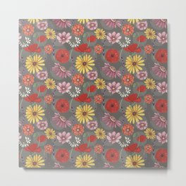 summer garden flowers Metal Print