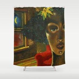 African American Masterpiece 'Eldzier Cortor' by Ellis Wilson Shower Curtain