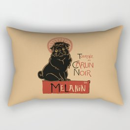 Le Carlin Noir (The Black Pug) Rectangular Pillow