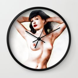 Bettie, Nude Pinup Wall Clock