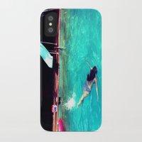 swim iPhone & iPod Cases featuring Swim by Katie Troisi