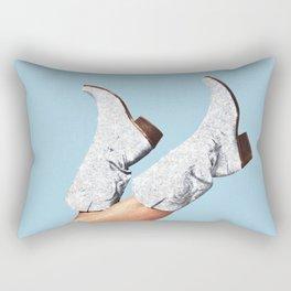 These Boots - Glitter Blue Rectangular Pillow