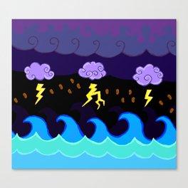 Coffee Storm Canvas Print