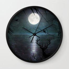 Deep inside the forest Wall Clock