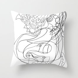Horse with flowers Throw Pillow