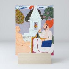 Baba Atmaram - holy man at a Vishnu Shrine - Vintage Indian print Mini Art Print