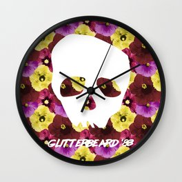 Glitterbeards Never Say Die  Wall Clock