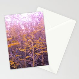 Pink Goldenrod Stationery Cards