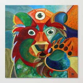 Three Eyed Bear Canvas Print