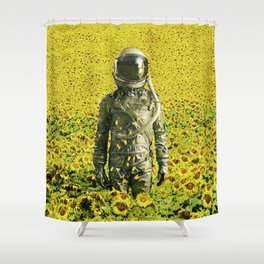 Stranded in the sunflower field Shower Curtain
