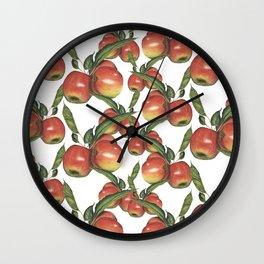 Hand Drawn Apple surface pattern deign Wall Clock