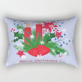 Christmas background . Rectangular Pillow