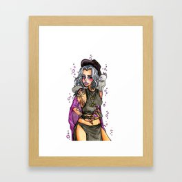 Hipster Witch Framed Art Print