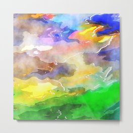 Watercolor Wash Art Metal Print