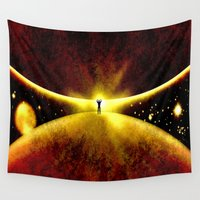 atlas Wall Tapestries featuring ATLAS - 225 by Lazy Bones Studios