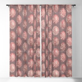 Realistic easter red dyed eggs pysanka Sheer Curtain