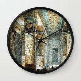 Tempel Dendera Wall Clock