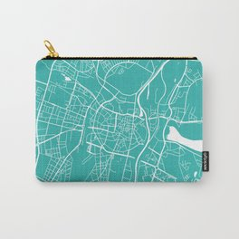 Poznan map turquoise Carry-All Pouch