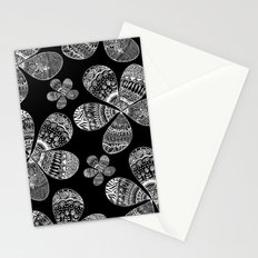 Storied Flowers (black & white) Stationery Cards