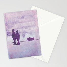 pajaros Love  Stationery Cards