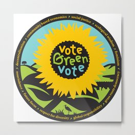 """Green Party Alameda County """"Vote Green"""" Metal Print"""