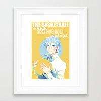 kuroko Framed Art Prints featuring The Basketball Which Kuroko Plays by Alyssa Tye