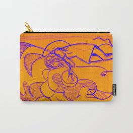 Sketchy Girl Orange Carry-All Pouch