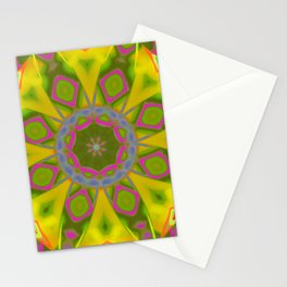 Abstract Flower AAA R Stationery Cards