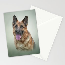 Drawing German Shepherd Dog Stationery Cards