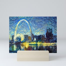 Starry St. Louis Night Mini Art Print