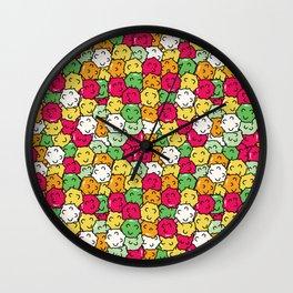Kawaii Japanese candy Konpeito pattern design Wall Clock