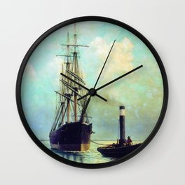 In The Gulf Of Finland 1881 By Lev Lagorio | Reproduction | Russian Romanticism Painter Wall Clock