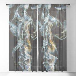 Smoke Design Art Sheer Curtain