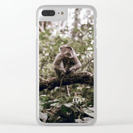 monkey forest / indonesia Clear iPhone Case