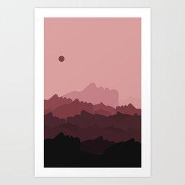 Love Mountain Range Art Print