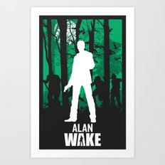 Alan Wake Art Print