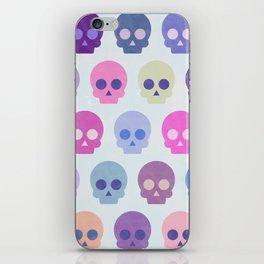 Colorful Skull Cute Pattern III iPhone Skin