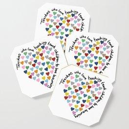 Hearts Heart Teacher Coaster