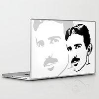 tesla Laptop & iPad Skins featuring nicola tesla by b & c