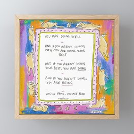 Being Bold Framed Mini Art Print