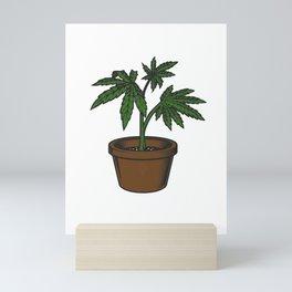 Cannabis Sativa Mini Art Print