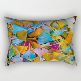Fallen Ginkgo Leaves Rectangular Pillow