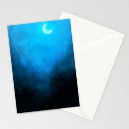 Dark Mystical Night Stationery Cards