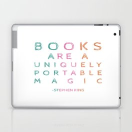 Books are a uniquely portable magic quote Laptop & iPad Skin