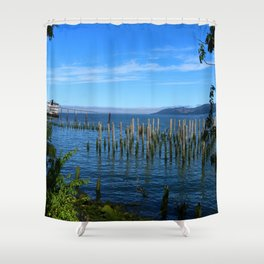 Columbia River Scene Shower Curtain